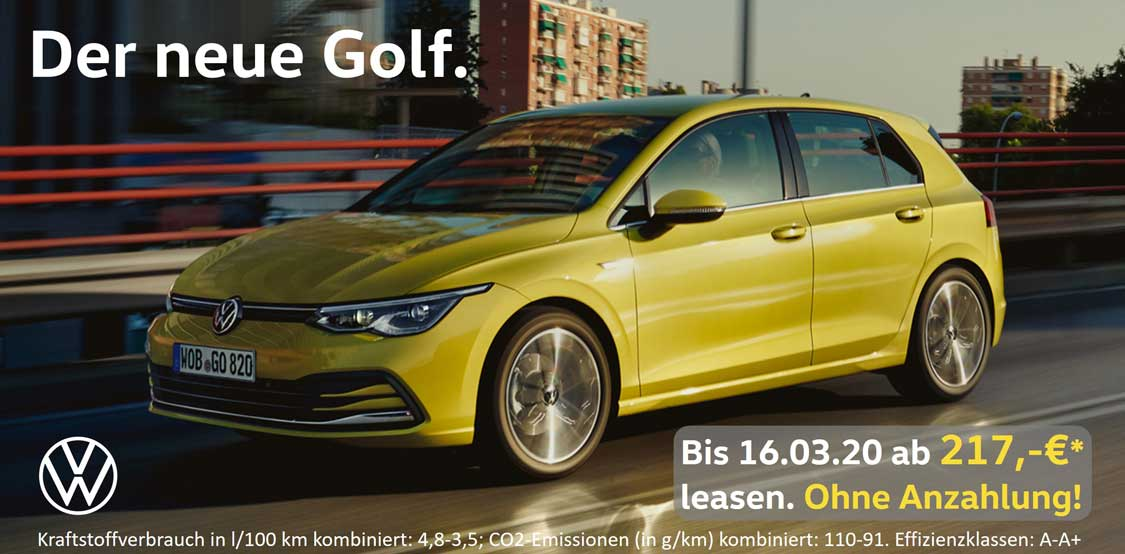 Golf 8 Sonderleasing