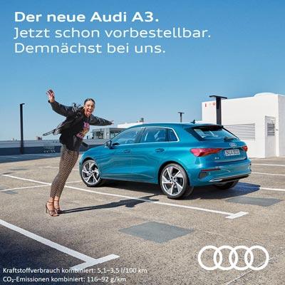Der neue Audi A3. Jetzt schon vorbestellbar.