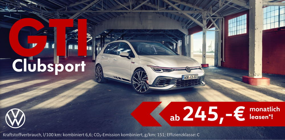 VW GTI Clubsport Leasing - mobil